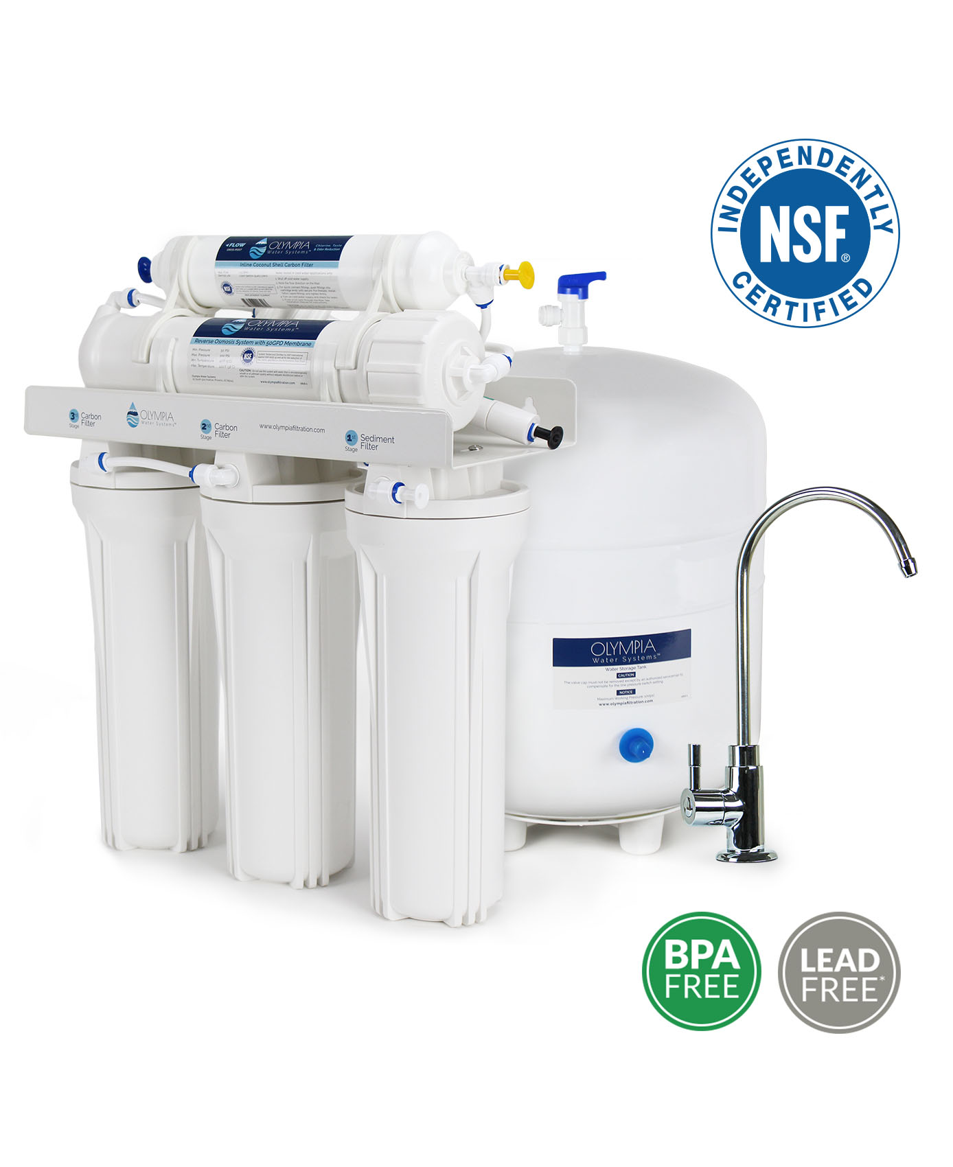 50gpd Reverse Osmosis System Oros 50 Olympia Water Systems