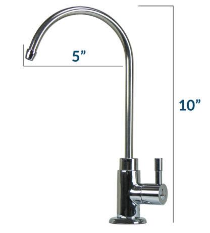 chrome finish faucet specs