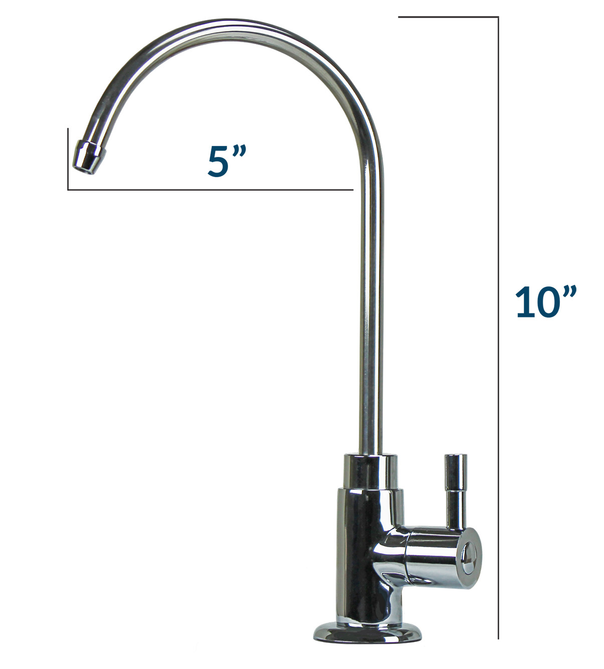 Reverse osmosis system chrome finish faucet kit olympia for Faucet finishes