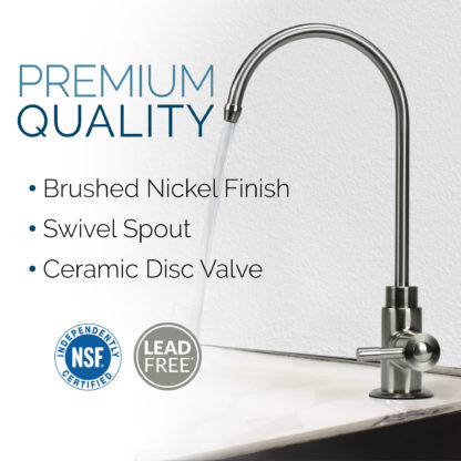 non-air-gap brushed nickel faucet