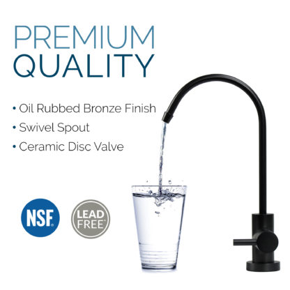 non-air-gap oil rubbed bronze faucet