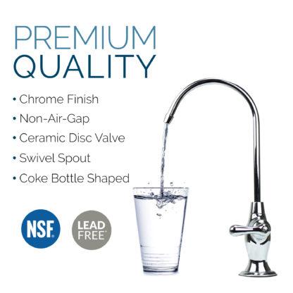 non-air-gap coke-bottle chrome faucet